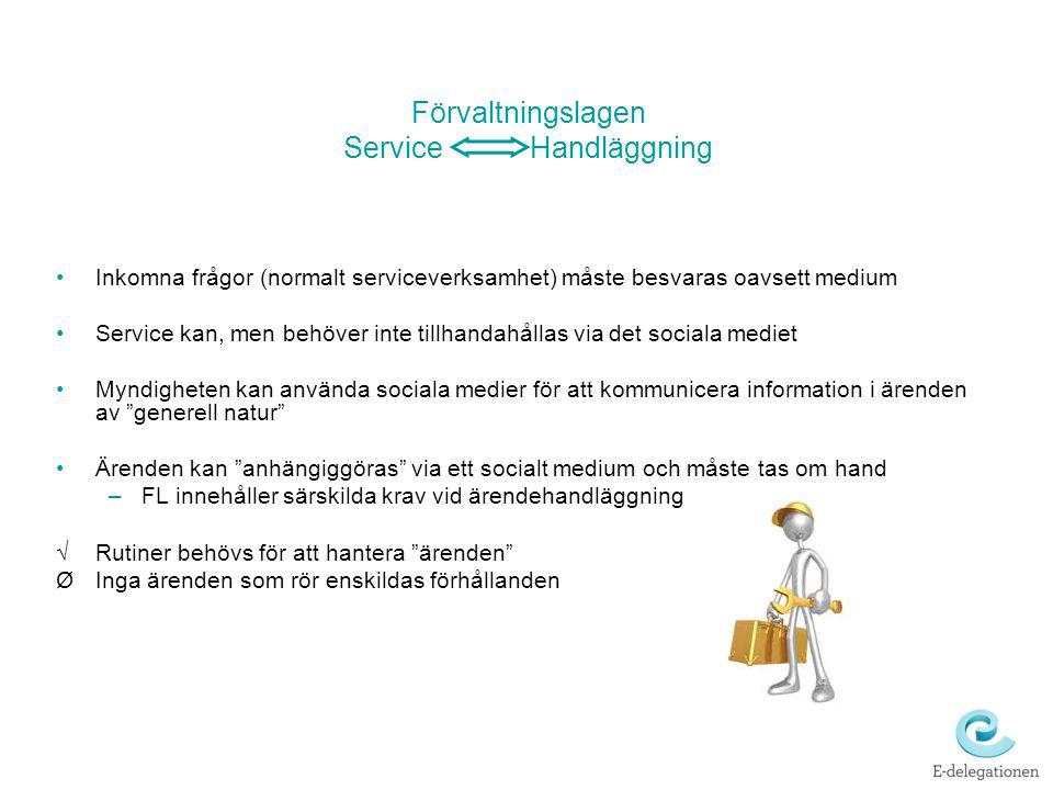 Förvaltningslagen Service Handläggning