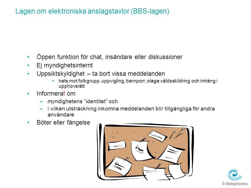 Lagen om elektroniska anslagstavlor (BBS-lagen)
