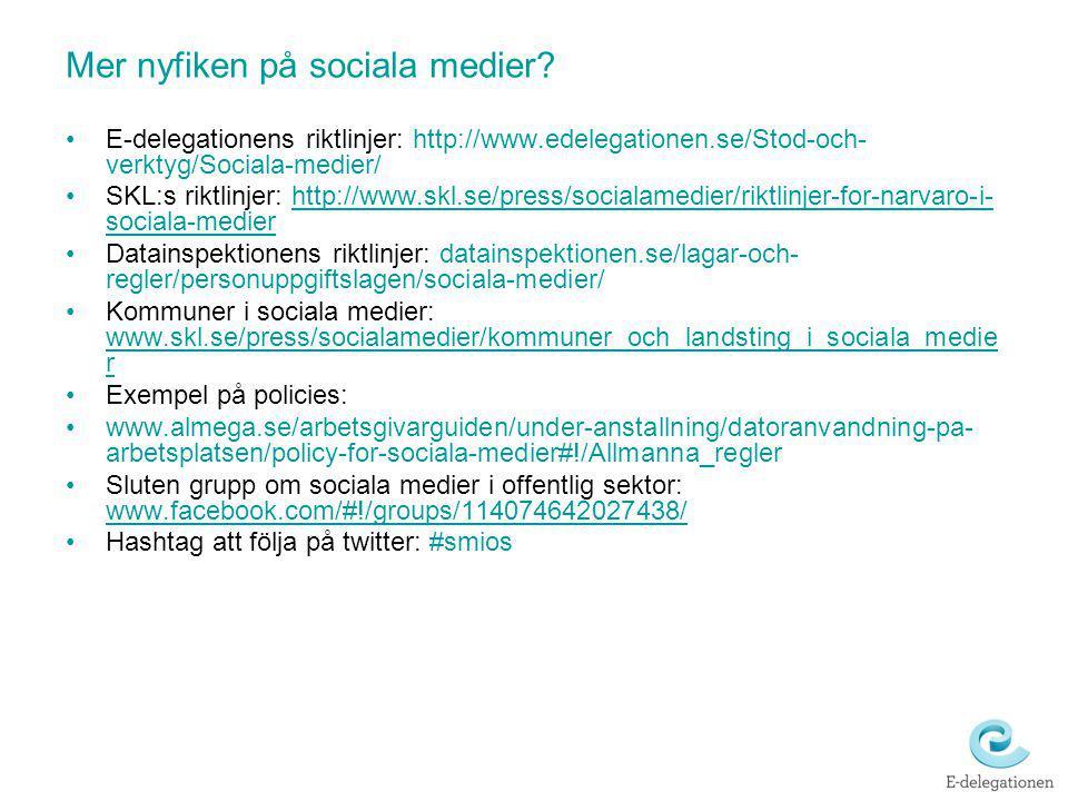 Mer nyfiken på sociala medier