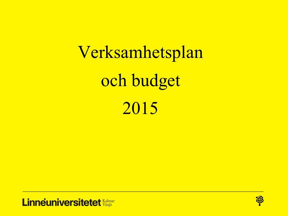 Verksamhetsplan och budget 2015