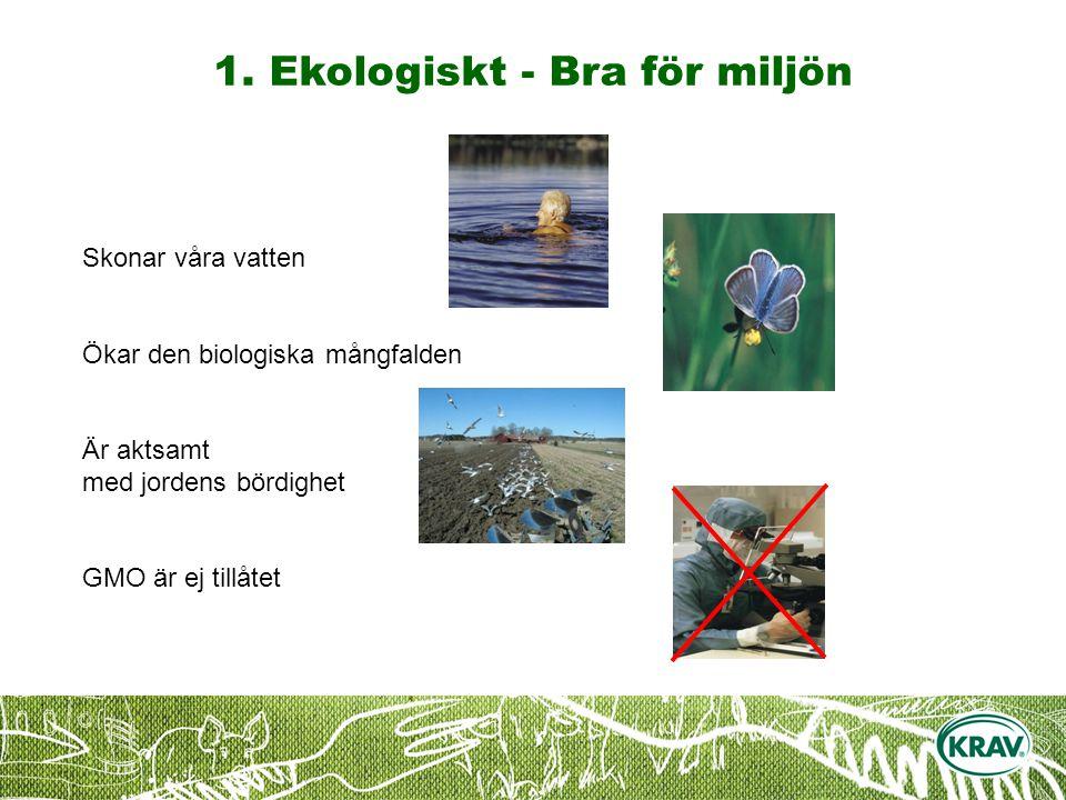 1. Ekologiskt - Bra för miljön