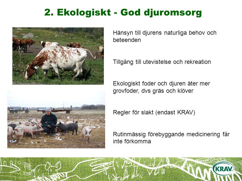 2. Ekologiskt - God djuromsorg