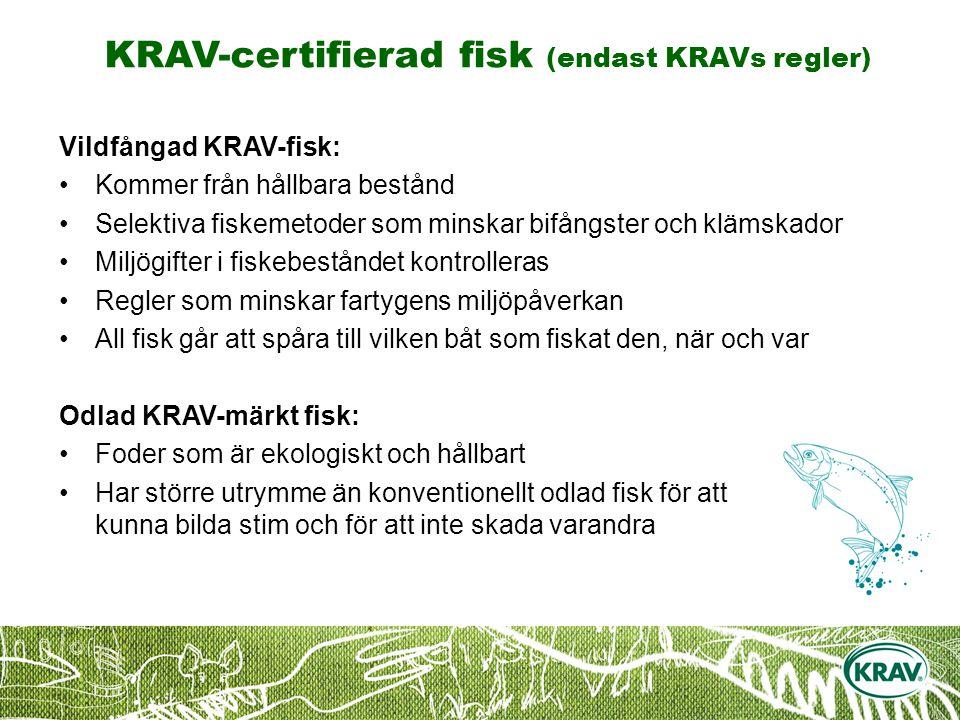 KRAV-certifierad fisk (endast KRAVs regler)