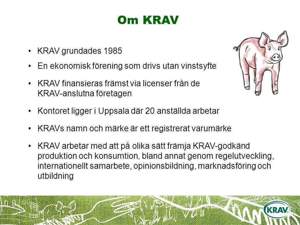 Om KRAV KRAV grundades 1985. En ekonomisk förening som drivs utan vinstsyfte.