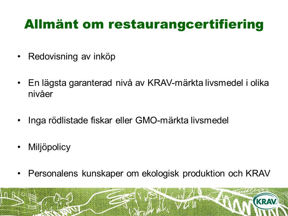 Allmänt om restaurangcertifiering