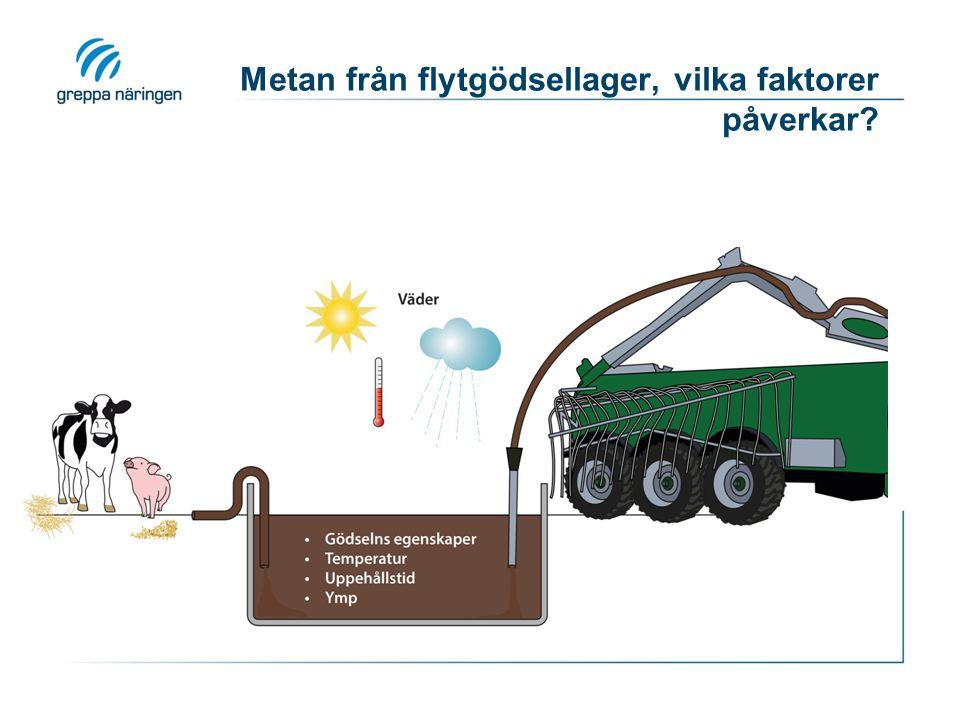 Metan från flytgödsellager, vilka faktorer påverkar