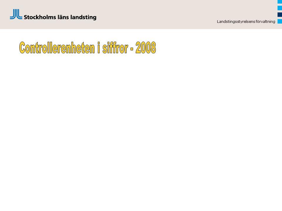 Controllerenheten i siffror - 2008