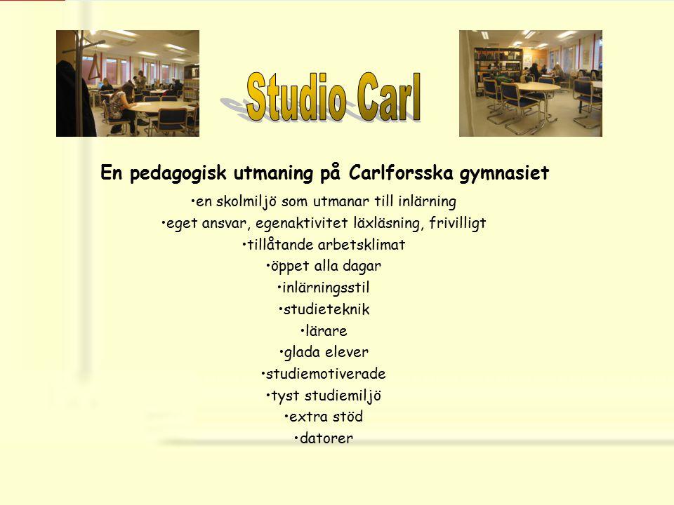 Studio Carl En pedagogisk utmaning på Carlforsska gymnasiet