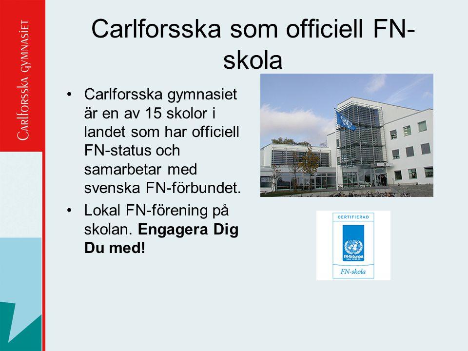 Carlforsska som officiell FN-skola
