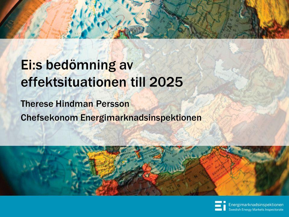 Ei:s bedömning av effektsituationen till 2025