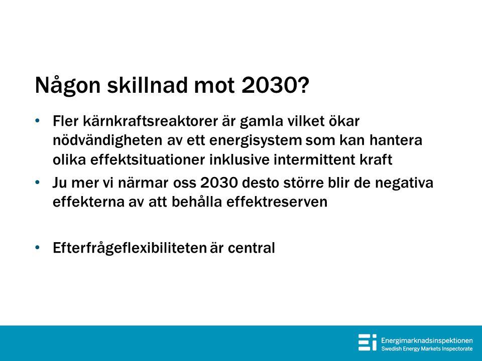 Någon skillnad mot 2030