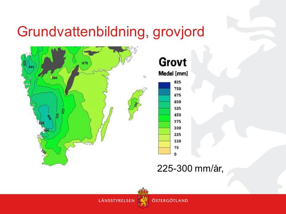 Grundvattenbildning, grovjord