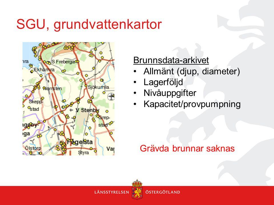 SGU, grundvattenkartor