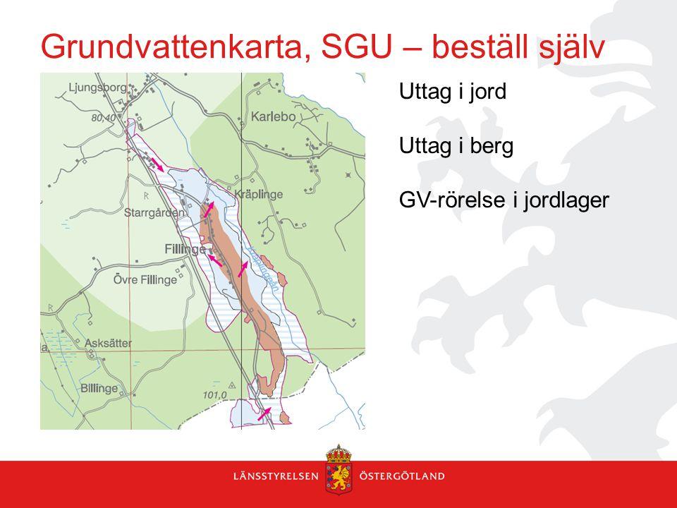 Grundvattenkarta, SGU – beställ själv