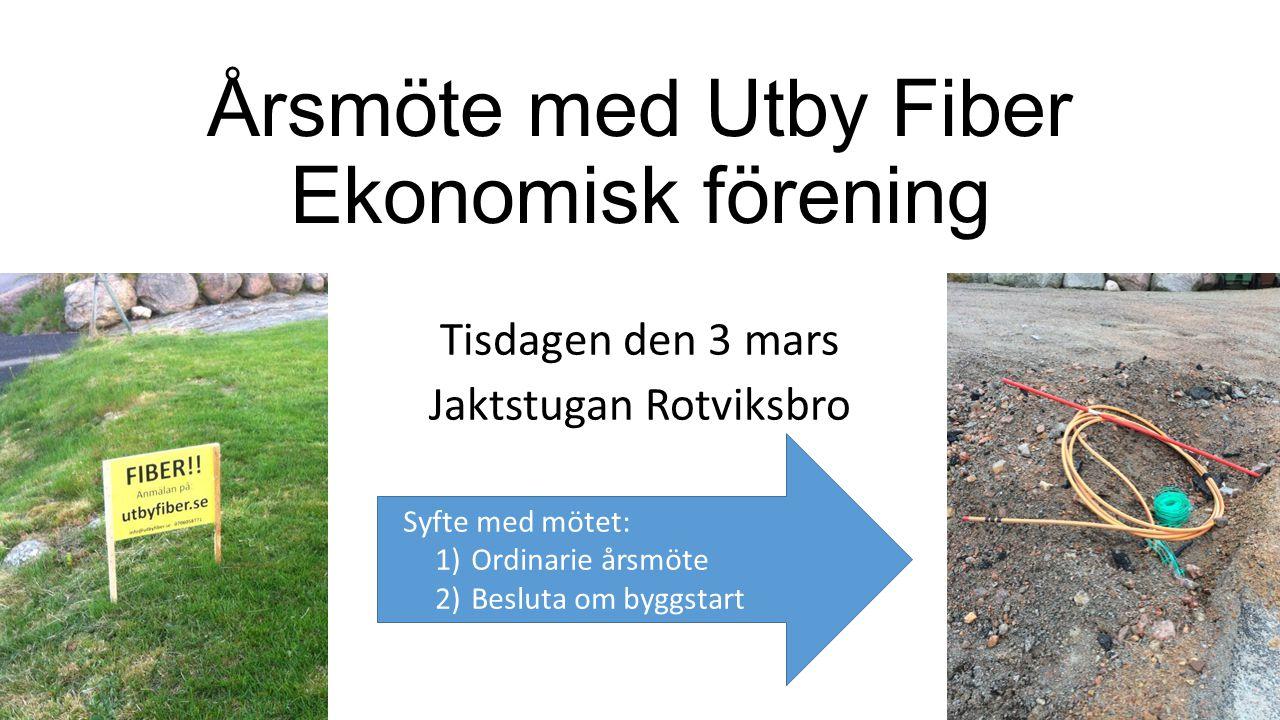 Årsmöte med Utby Fiber Ekonomisk förening