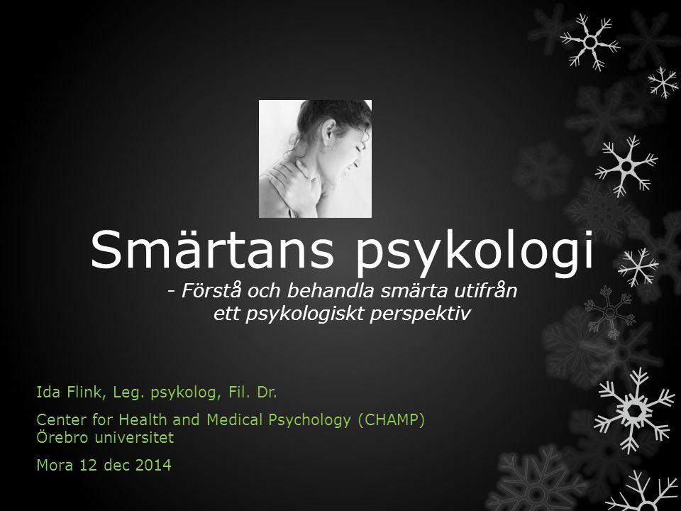 Smärtans psykologi - Förstå och behandla smärta utifrån ett psykologiskt perspektiv