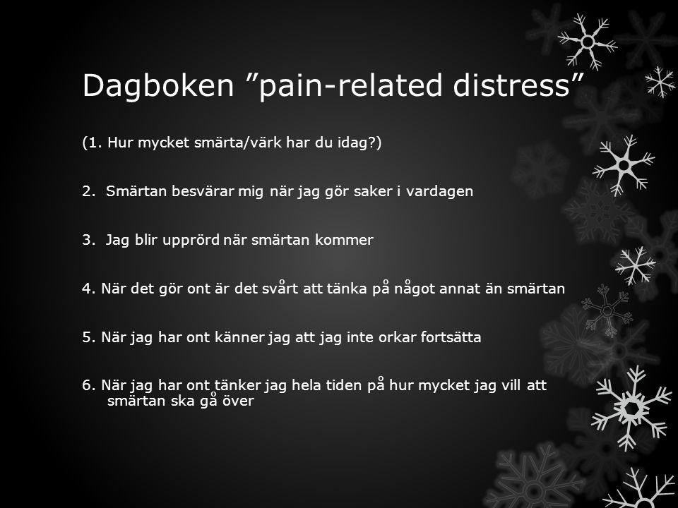 Dagboken pain-related distress