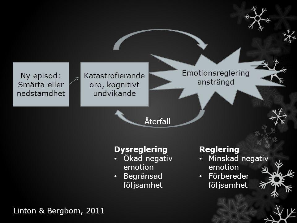 Emotionsreglering ansträngd Inget återfall