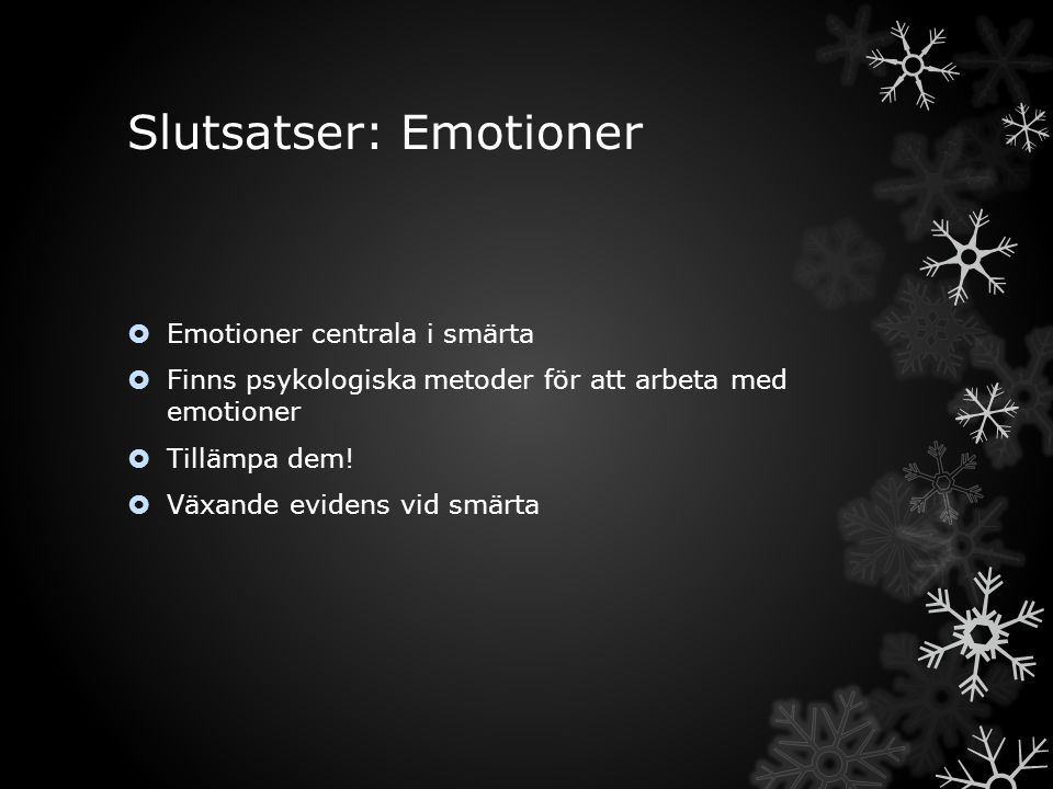 Slutsatser: Emotioner