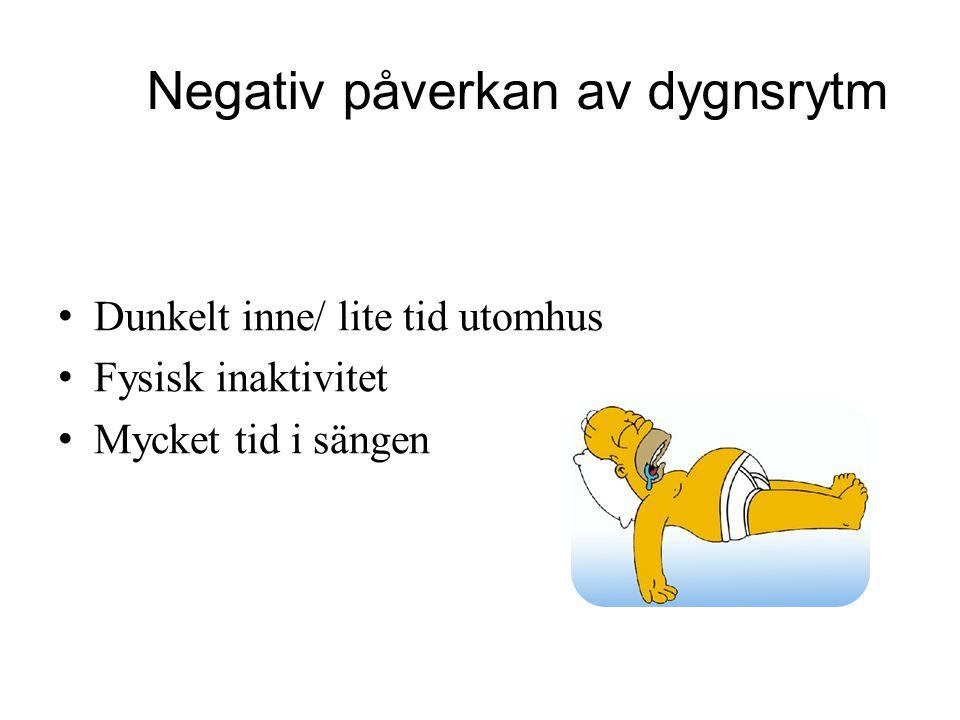 Negativ påverkan av dygnsrytm