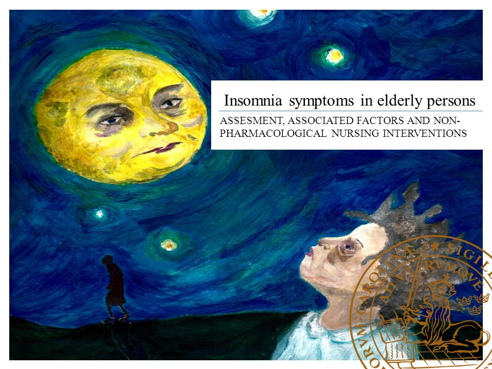 Insomnia symptoms in elderly persons