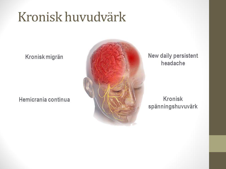 New daily persistent headache Kronisk spänningshuvuvärk