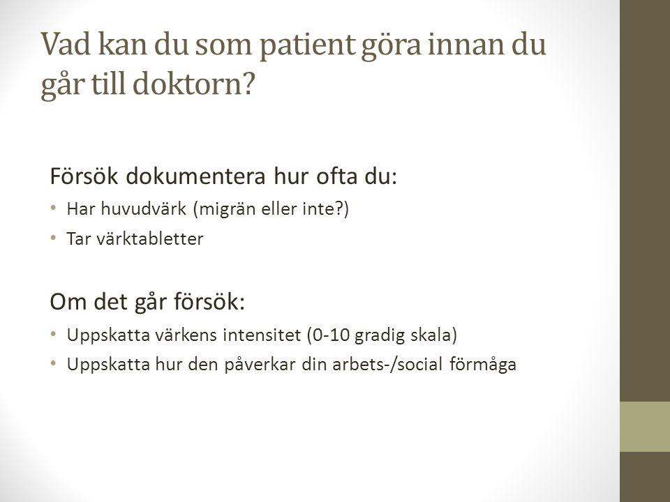 Vad kan du som patient göra innan du går till doktorn