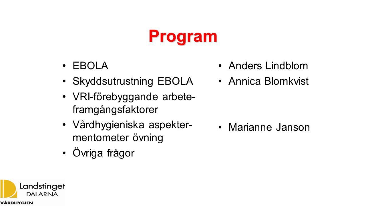 Program EBOLA Skyddsutrustning EBOLA