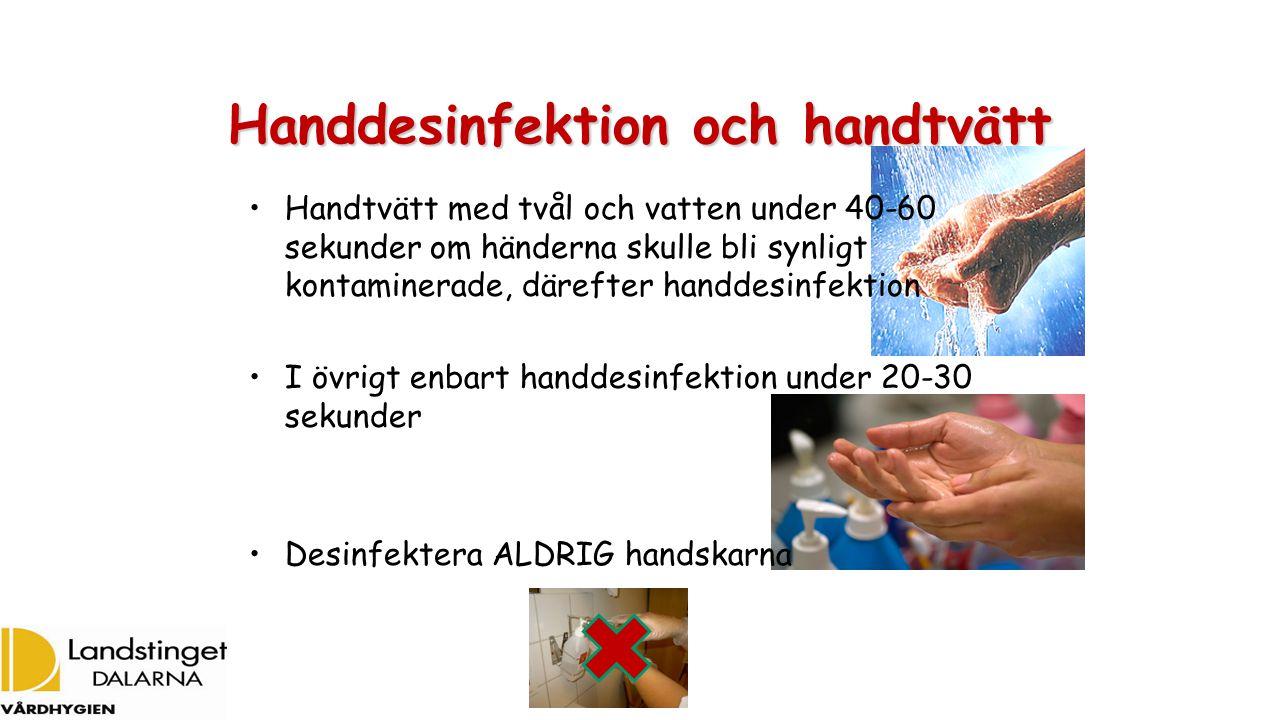 Handdesinfektion och handtvätt