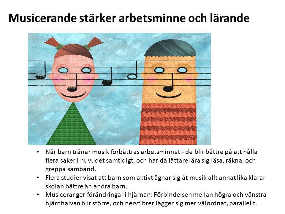 Musicerande stärker arbetsminne och lärande