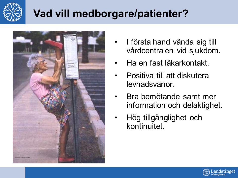 Vad vill medborgare/patienter