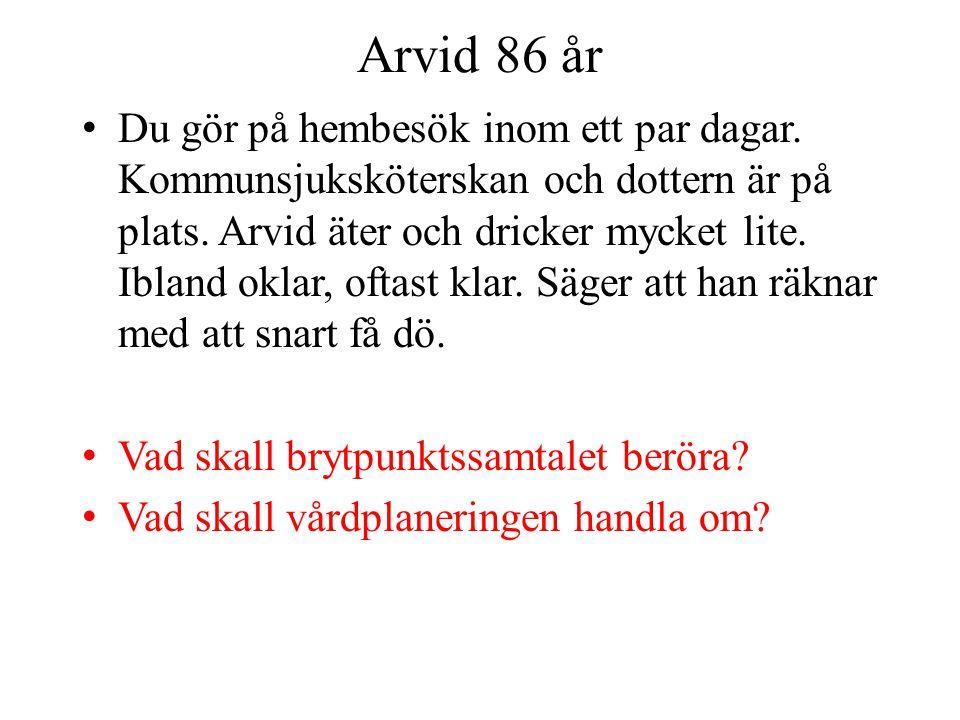 Arvid 86 år