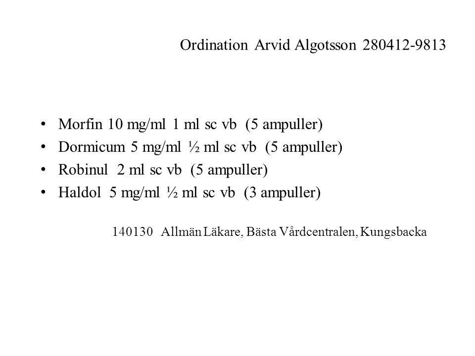 Ordination Arvid Algotsson 280412-9813