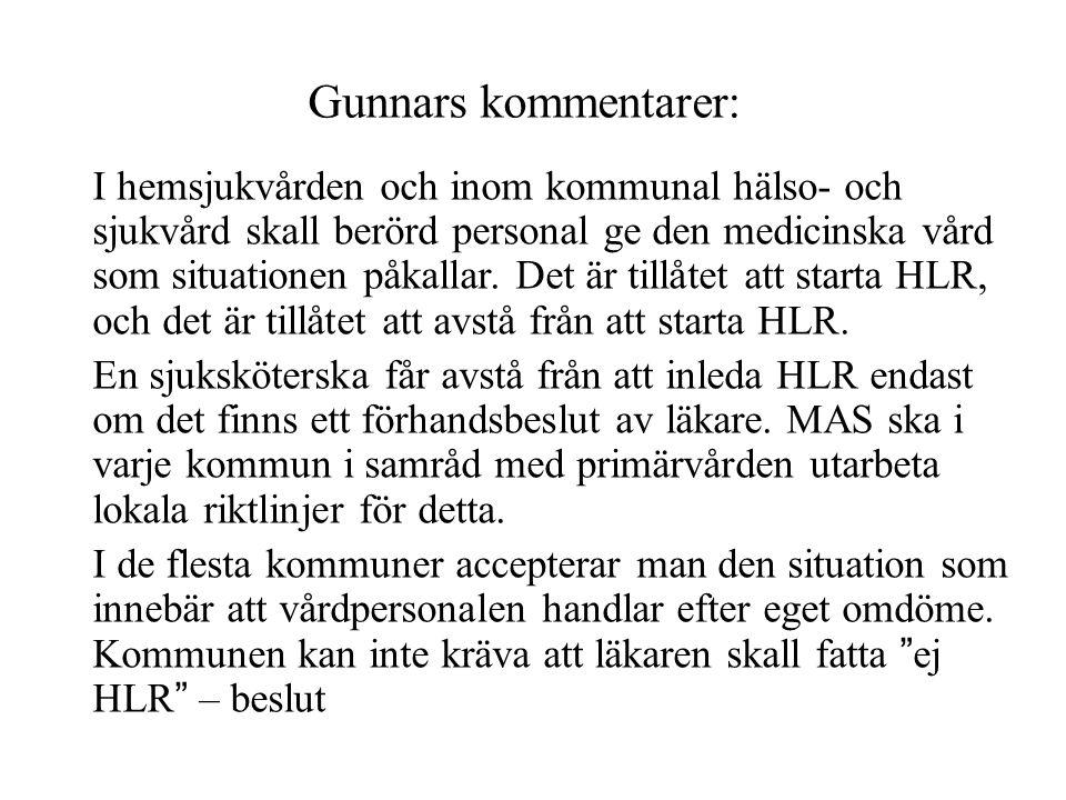 Gunnars kommentarer: