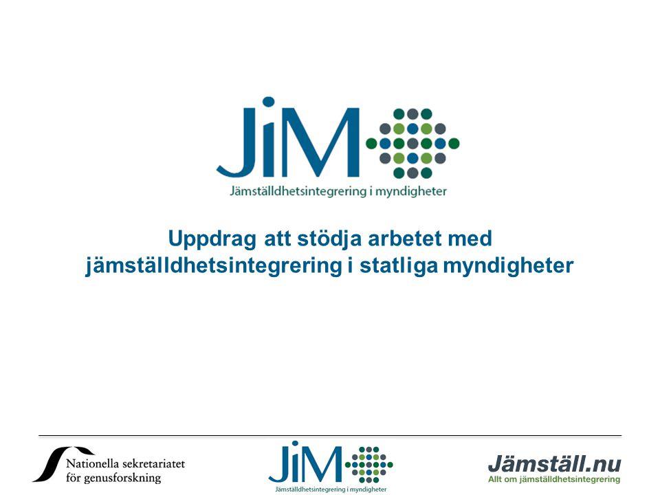 Uppdrag att stödja arbetet med jämställdhetsintegrering i statliga myndigheter