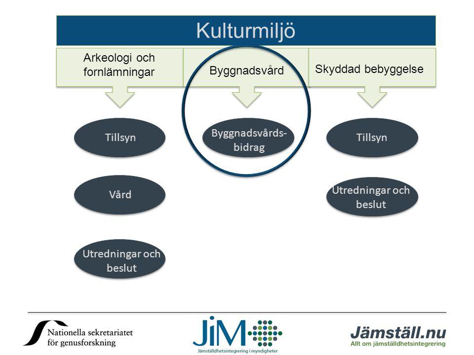 Kulturmiljö Arkeologi och fornlämningar Byggnadsvård