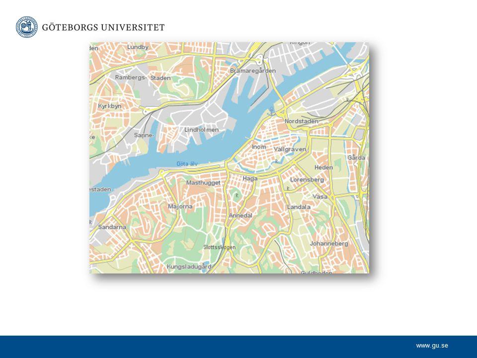 Lokaler GU finns utspritt på flera ställen i stan. Ex Lindholmen (IT)