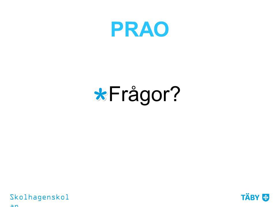 PRAO Frågor Skolhagenskolan