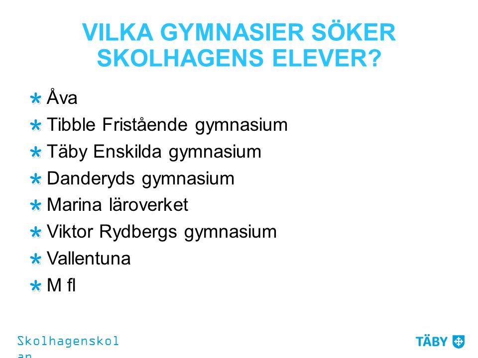 VILKA GYMNASIER SÖKER SKOLHAGENS ELEVER