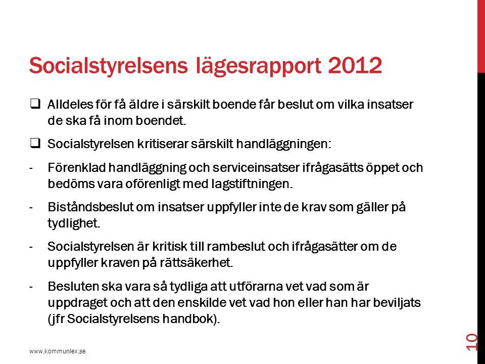 Socialstyrelsens lägesrapport 2012