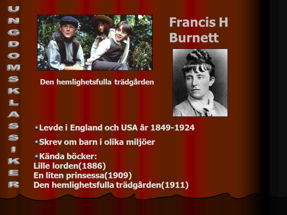 UNGDOMSKLASSIKER Francis H Burnett