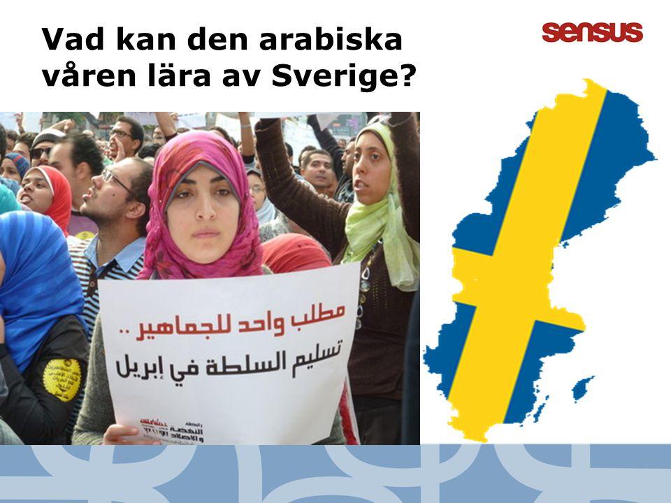 Vad kan den arabiska våren lära av Sverige