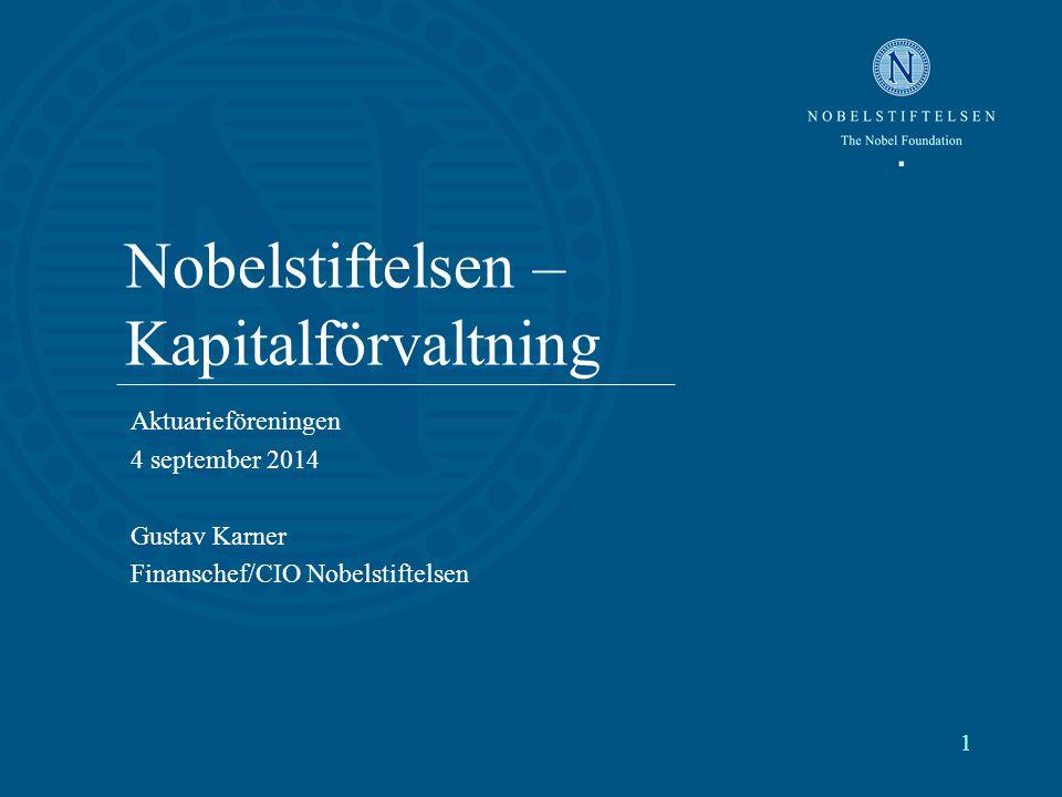 Nobelstiftelsen – Kapitalförvaltning