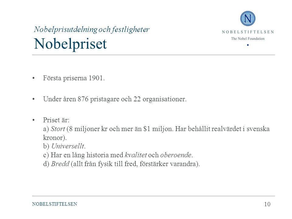 Nobelprisutdelning och festligheter Nobelpriset