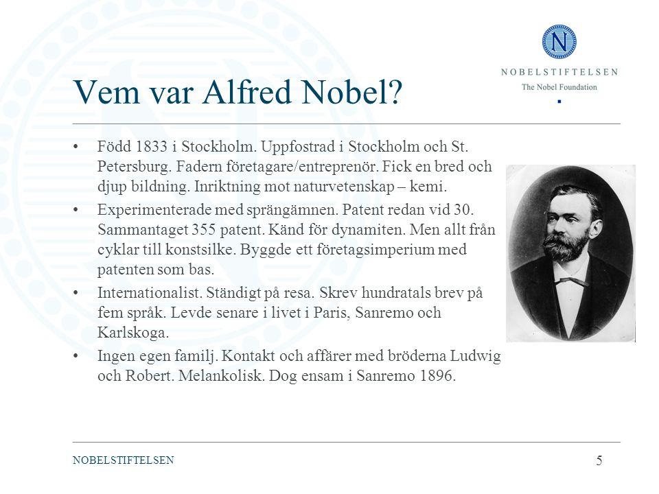 Vem var Alfred Nobel