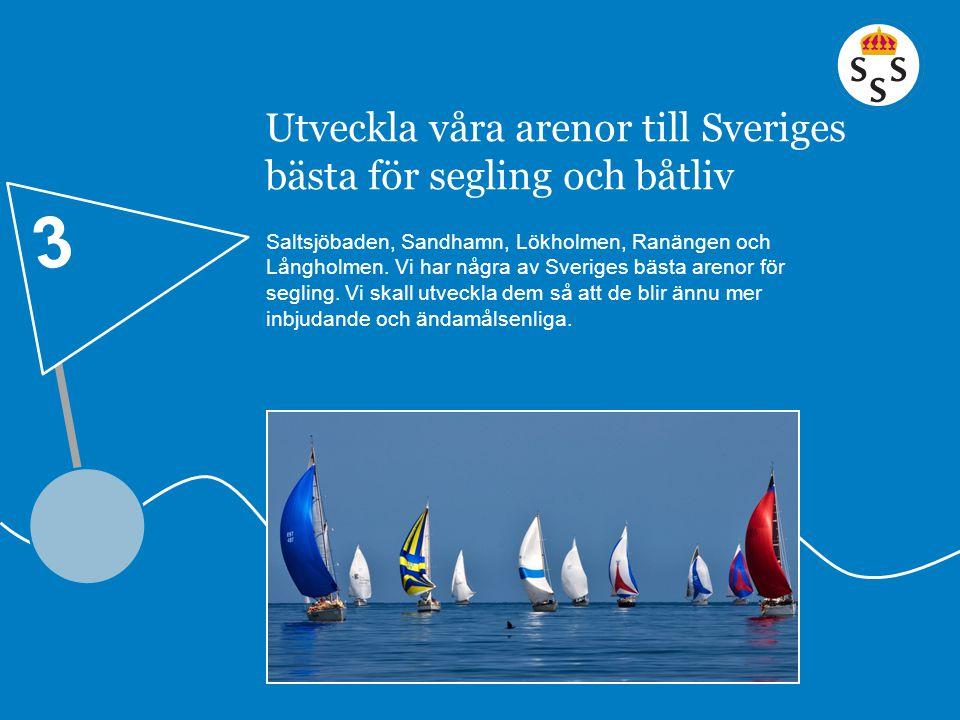 Utveckla våra arenor till Sveriges bästa för segling och båtliv