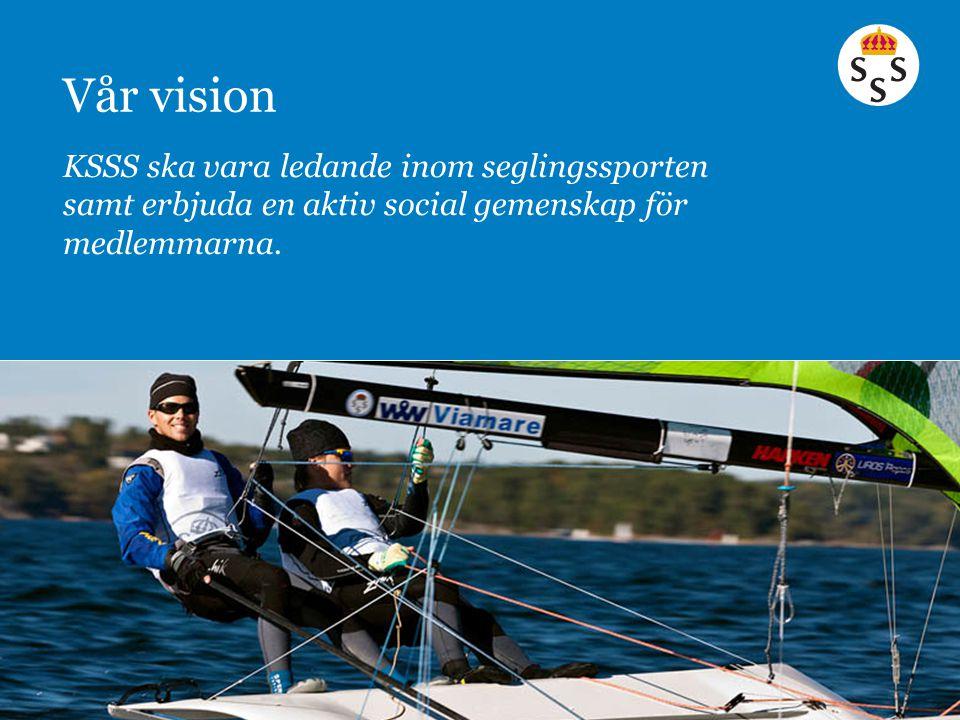 Vår vision KSSS ska vara ledande inom seglingssporten samt erbjuda en aktiv social gemenskap för medlemmarna.