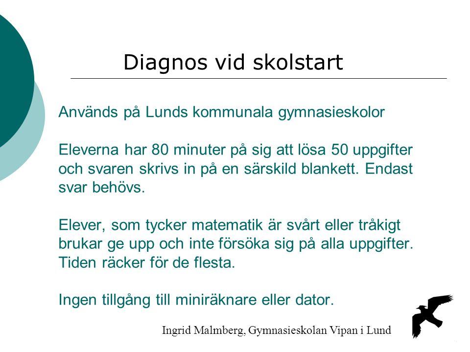 Diagnos vid skolstart