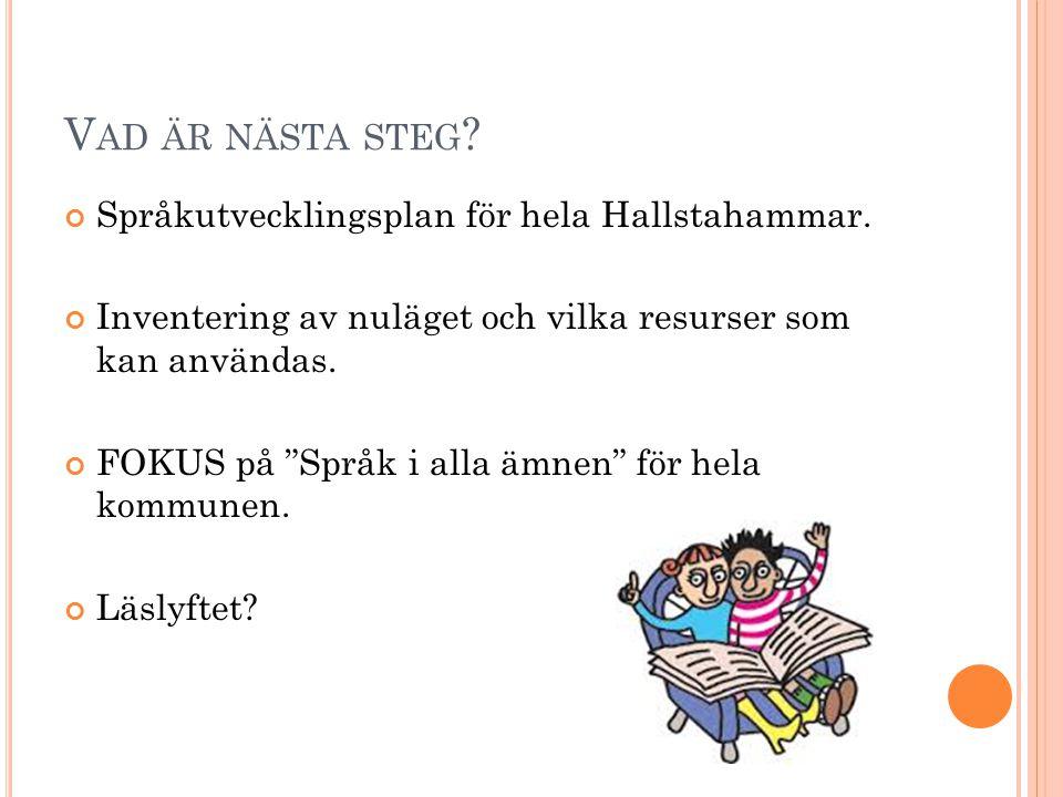 Vad är nästa steg Språkutvecklingsplan för hela Hallstahammar.