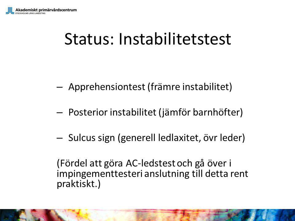 Status: Instabilitetstest